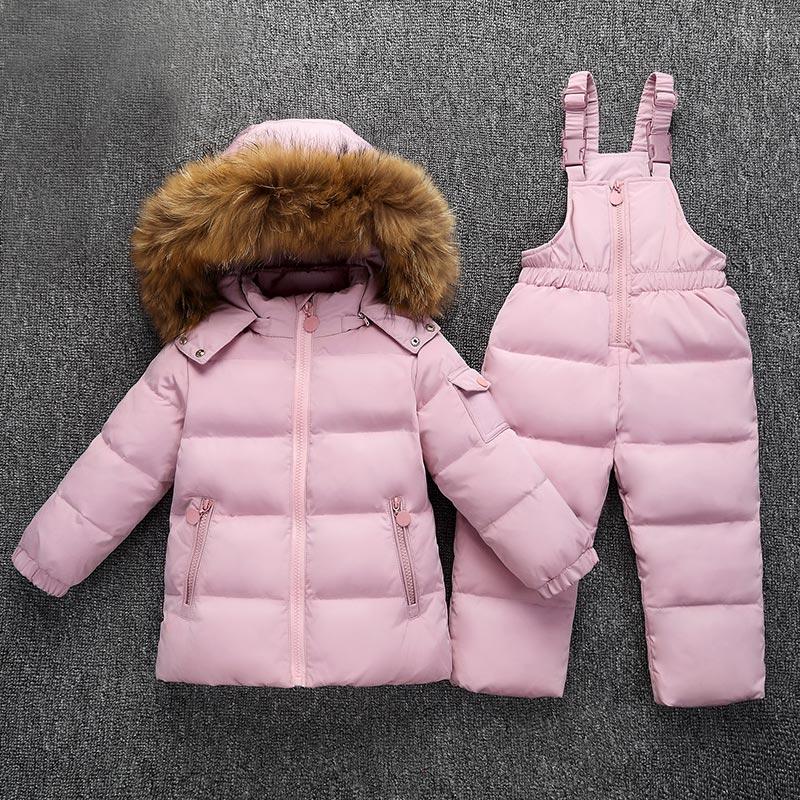 XYF1823 Winter Baby Boy Girl 1-6 Years Warm White Duck Down Jacket Jumpsuit Child Print Thicken Down Jacket Set Kids Coat+Romper все цены