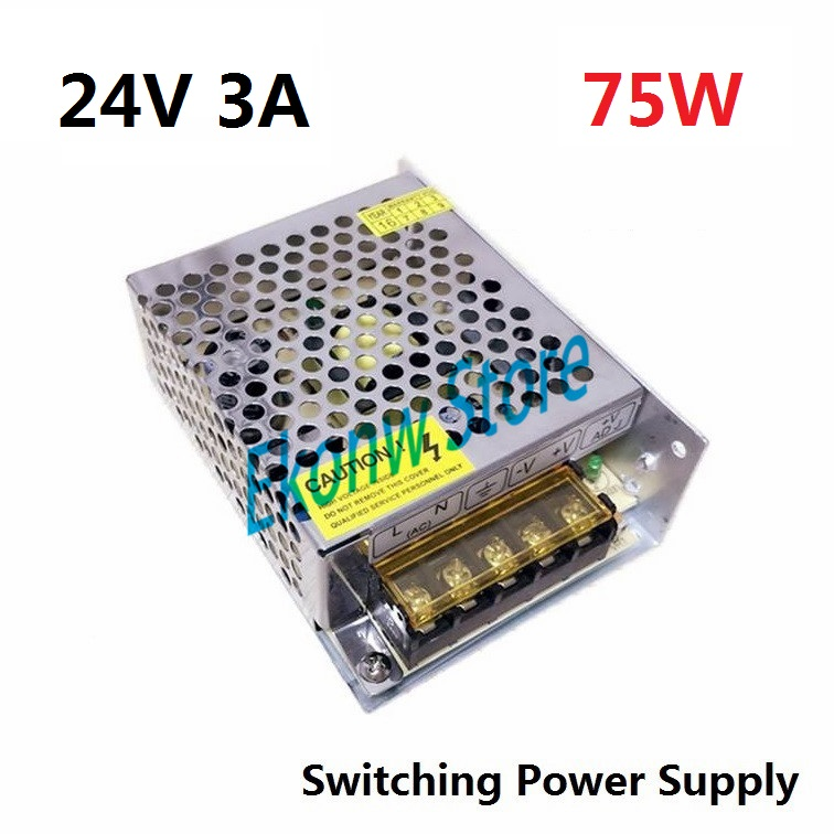 75W 24V 3A Switching Power Supply Factory Outlet SMPS Driver AC110-220V to DC24V Transformer for LED Strip Light Module Display best quality 12v 15a 180w switching power supply driver for led strip ac 100 240v input to dc 12v