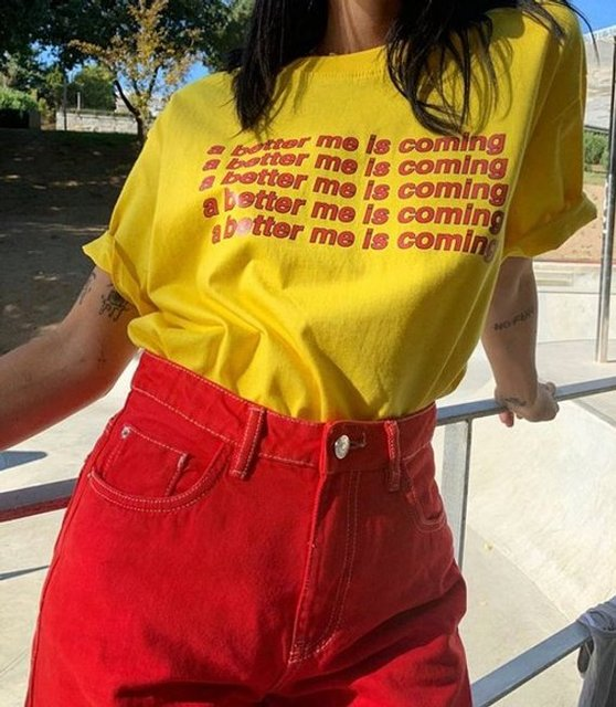 Sugarbaby A Better Me Is Coming T shirt Tee Top Feminist Slogan Graphic Art  Hoe Hipster Tumblr Grunge Women Retro Vintage Tops f7063a88253f