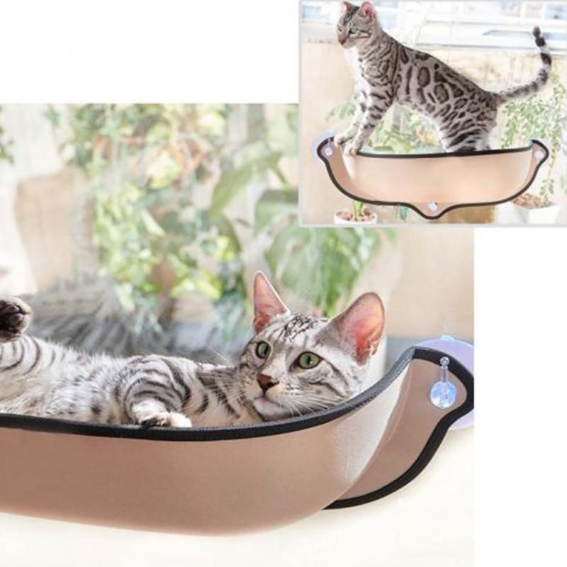 Hanging Cat Bed Mat Soft Cat Hammock Window Mounted Hammock Kennels 26kg Cat Safe Hanging Shelf Seat Cover Cushion Pet Bed #1129