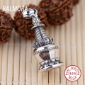 New Unique 100% Pure 925 Sterling Silver Jewelry Vintage Buddhist Pagoda Pendants for Necklaces Women Men Charms Jewelry SY10287
