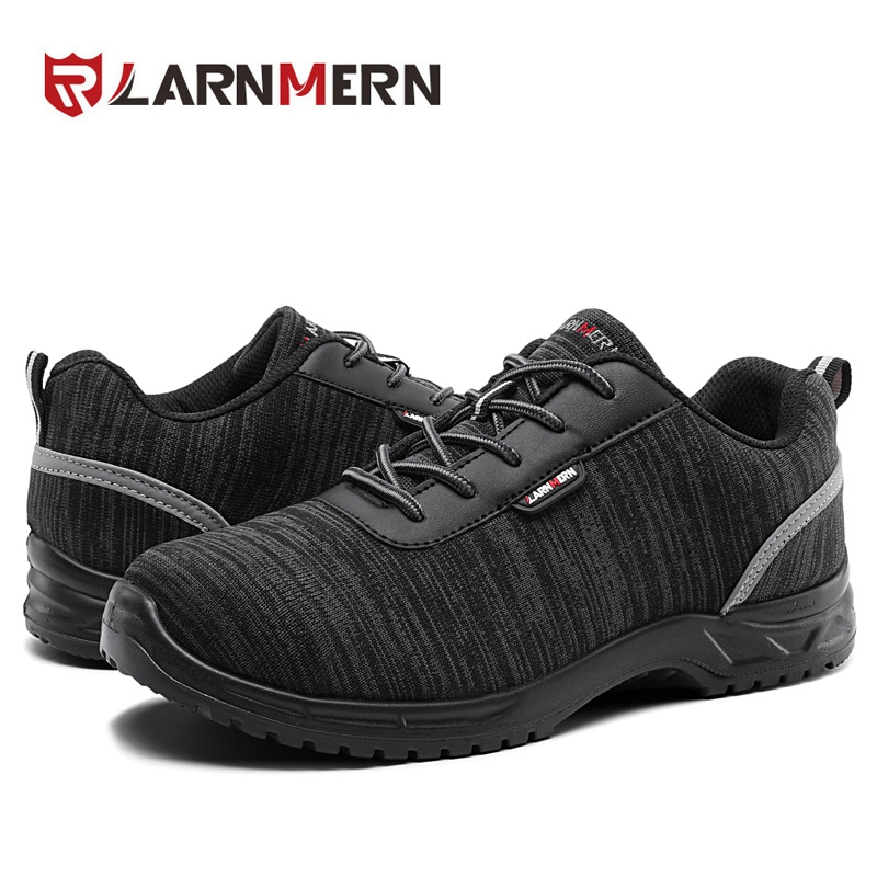 LARNMERN Men Composite Cap Toe Work Anti-static Insole Safety Shoes Lightweight Breathable Reflective Non-slip Casual Sneaker