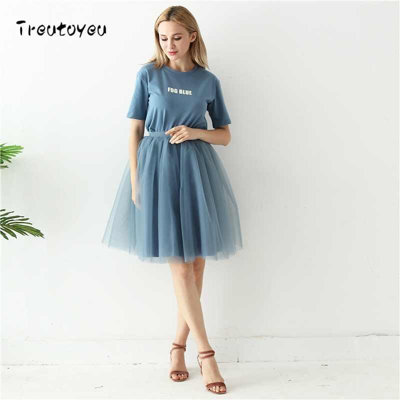 ... Высокое качество, 5 слоев, 60 см, модная Тюлевая юбка, плиссированные  юбки- ... 2f9558728e8