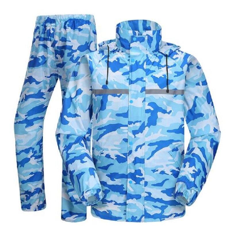 Camouflage adulte imperméable pluie pantalon randonnée Tour imperméables hommes imperméable pluie manteau pluie pantalon ensemble femmes vêtements de pluie pour moto
