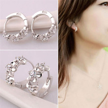 New Arrival Fashion Sweet Romantic High Quality Flowers Micro-inlaid Zircon Ladies Earrings Jewelry