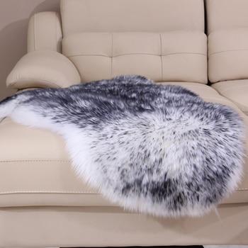 Floor Cushion Sofa | 100% Wool Sheepskin Rugs Sofa Cushion Pure Fur Carpet Fluffy White Rug Soft Chair Floor Mat Livingroom Bedroom Parlor Customized