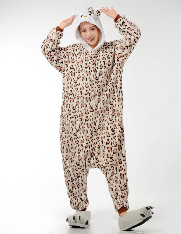 Muški dame crtani leopard Onesies za odrasle pidžame Onsie Pidžame - Ženska odjeća - Foto 3