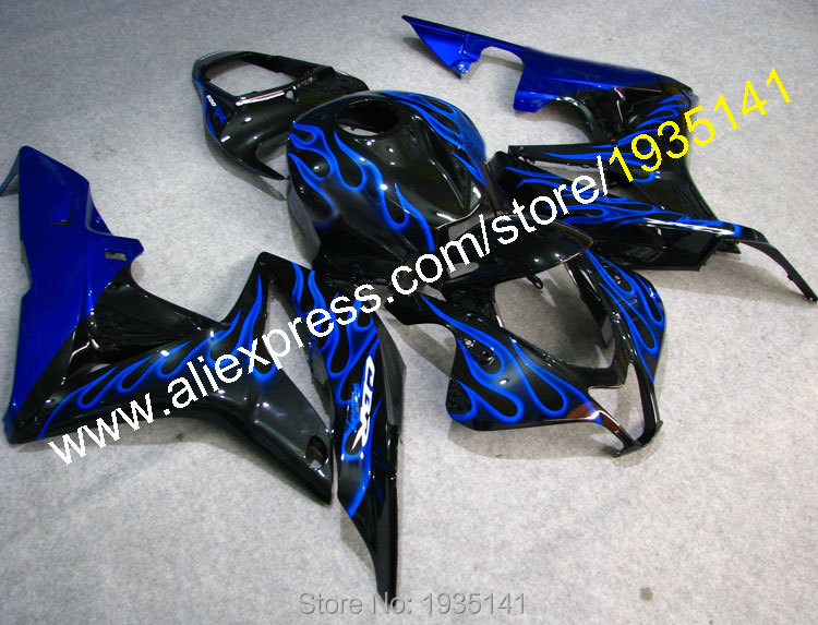 Hot Sales,For Honda CBR600RR F5 2007 2008 CBR600RR CBR600 RR 07 08 CBR 600RR Blue Flame Motorcycle Fairing (Injection molding)