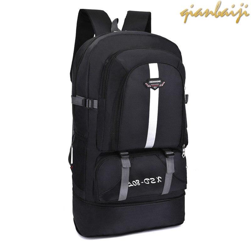 60L Outdoors Shoulders Backpack Leisure Travelling Men Travel Sport Bags Duffle Luggage Duffel Weekend Women's Bag Large Trip