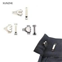 XUNZHE 50 шт. DIY брюки юбки крючки Латунные Крюк брюки Пришивные серебряный черный цвет четыре вида размера Швейные аксессуары