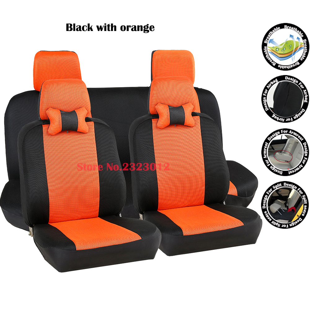 ФОТО Universal car seat covers For Hyundai Tucson Solaris Accent i30 ix35 car-covers accessories styling black/gray /red