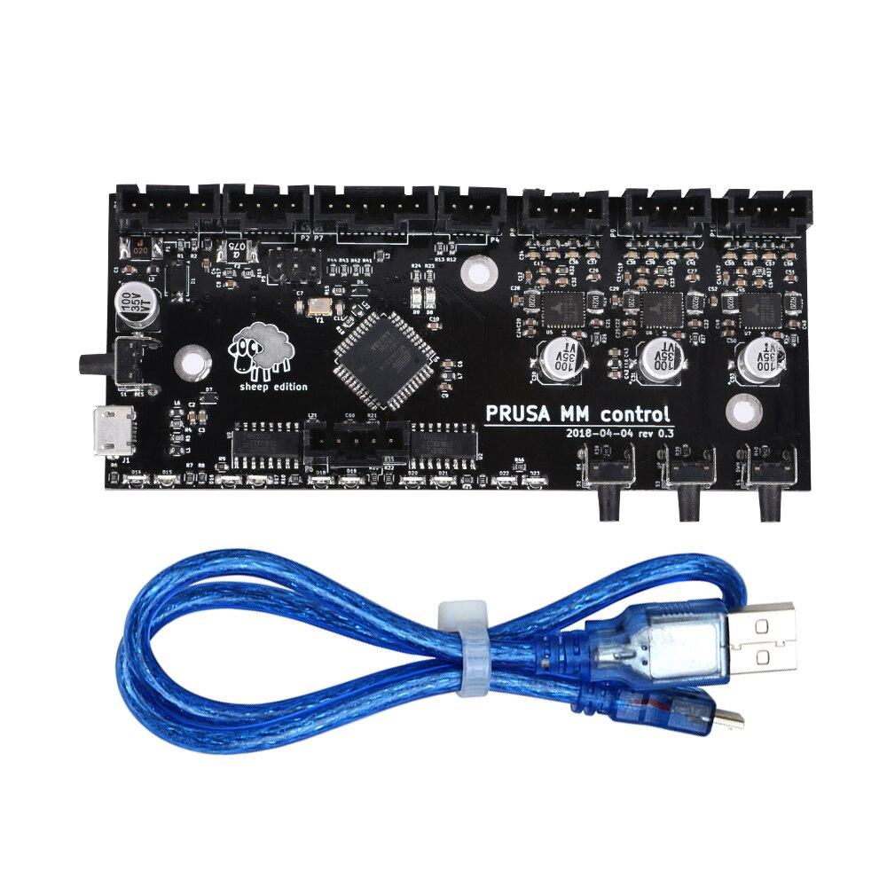 Imprimante 3D pièces clonées i3 MK3 MMU2 conseil Multi matériel 2.0 mise à niveau MM carte de contrôle avec contrôleur de puce TMC2130 pour impression 3D