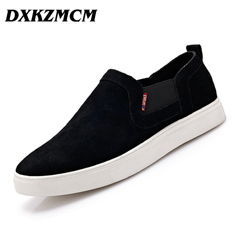 DXKZMCM Handmade Men Loafers Genuine Leather Casual Shoes Retro Men Flats Oxford Shoes For Men Moccasin Driving Shoes men s genuine leather casual shoes handmade loafers for male men waterproof flat driving shoes flats