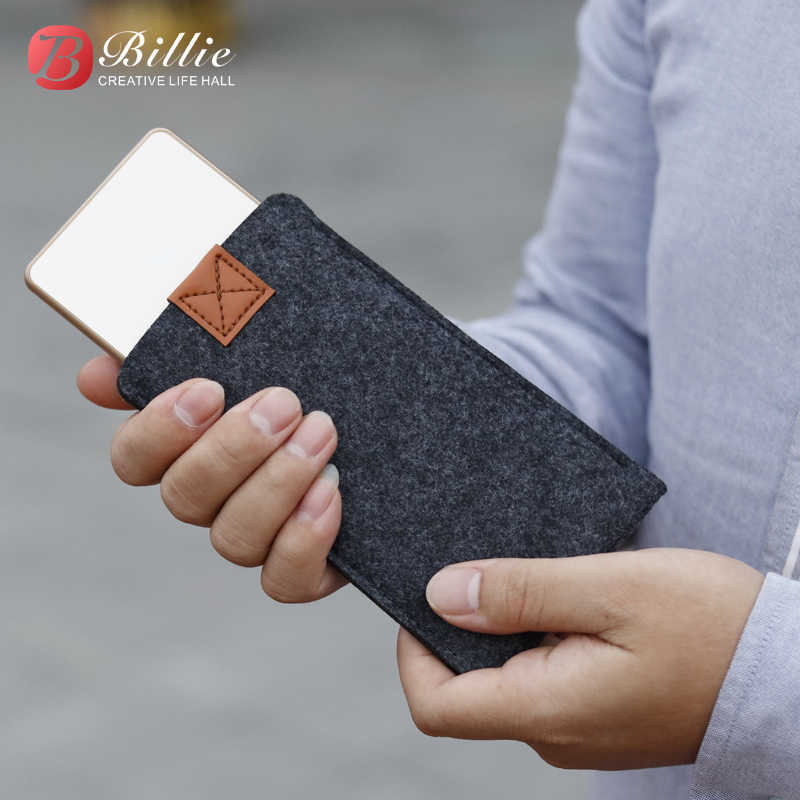 Billie Handmade Wool Felt Sleeve Bag Pouch For iPhone X 8 Plus Phone Sleeve Case For iPhone 6 7 Plus 5.5 inch  mobile phone Case
