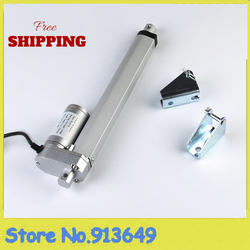 12V,200mm/ 8 inch stroke, 1500N/150KGS/330LBS load linear actuator electric lifting linear actuator tubular motor with brackets цены онлайн