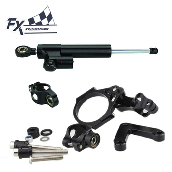 FX Aluminum Motorcycle Steering Stabilizer Damper Mounting Bracket Complete Set For Ducati 848 2008-2010 2009 Motorcycle Support