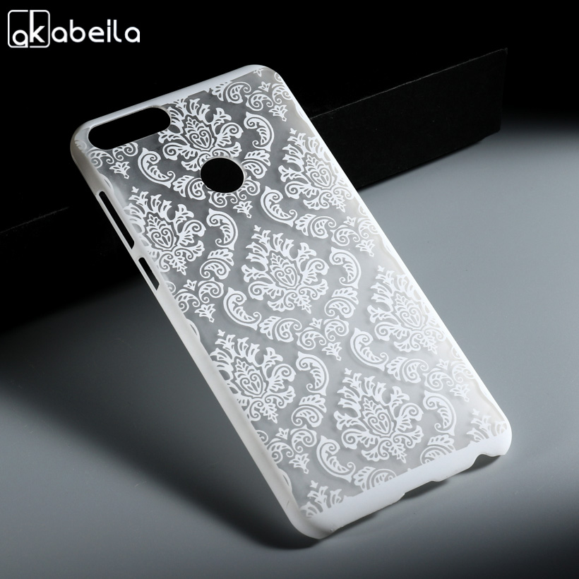 AKABEILA Case For Huawei P smart Cases Hollow Out Flower Hard Plastic Cover For Huawei Enjoy 7S Covers Green 5.65 inch ...