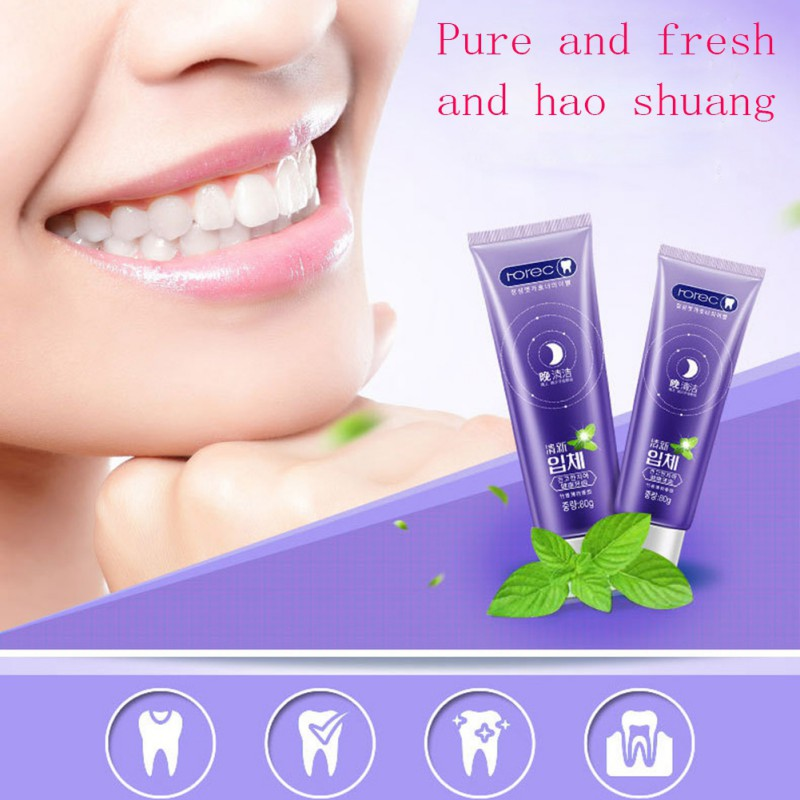 Pro Herbal Fresh Toothpaste Whitening Remove Yellow Stains Halitosis Reduce Gingivitis Clean Dental Care image