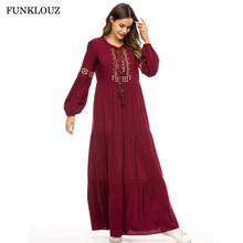 Muslim Abaya for Women Plus Size Qatar UAE Turkish Islamic Dress Dubai Arab Moroccan Kaftan Robes