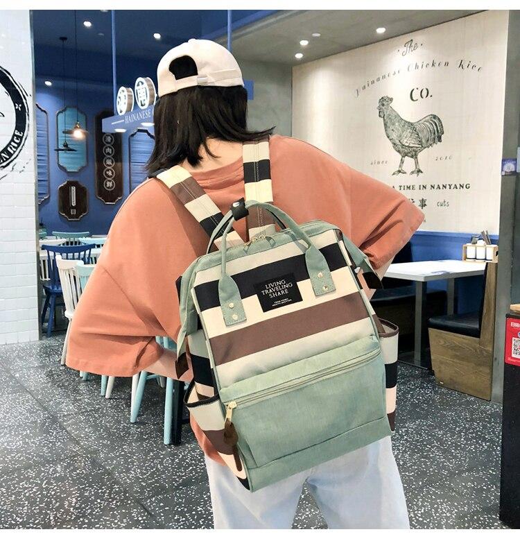 HTB1UOr.UkzoK1RjSZFlq6yi4VXan 2019 Korean Style Women Backpack Canvas Travel Bag Mini Shoulder Bag For Teenage Girl School Bag Bagpack Rucksack Knapsack