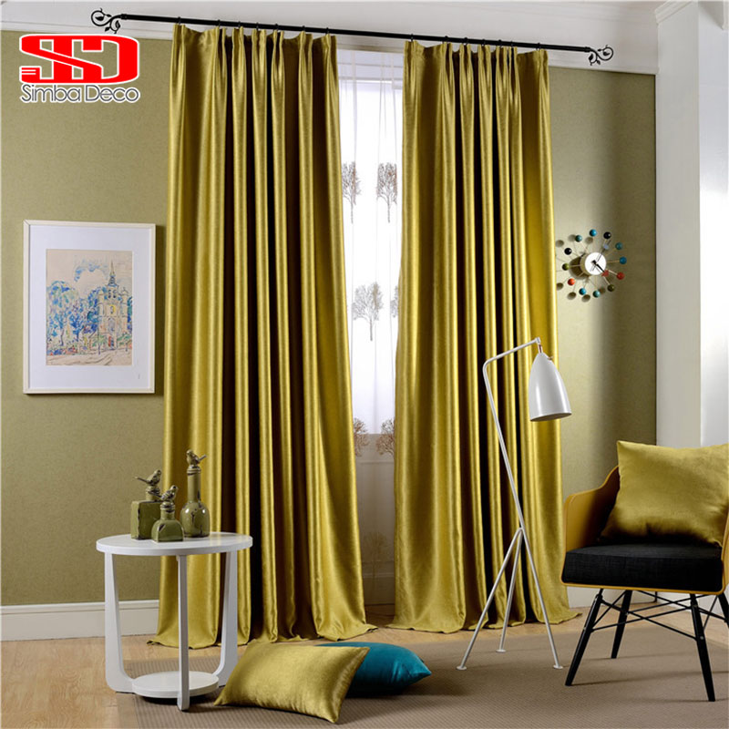 Modern Solid Shiny Velvet Blackout Curtains For Bedroom