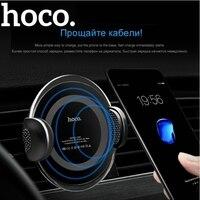 HOCO מותג 2 ב 1 multi-פונקצית טלפון רכב Stand מחזיק + צ 'י מטען אלחוטי עבור iPhone X 8/סמסונג S8 האוניברסלי צ' י מכשירים
