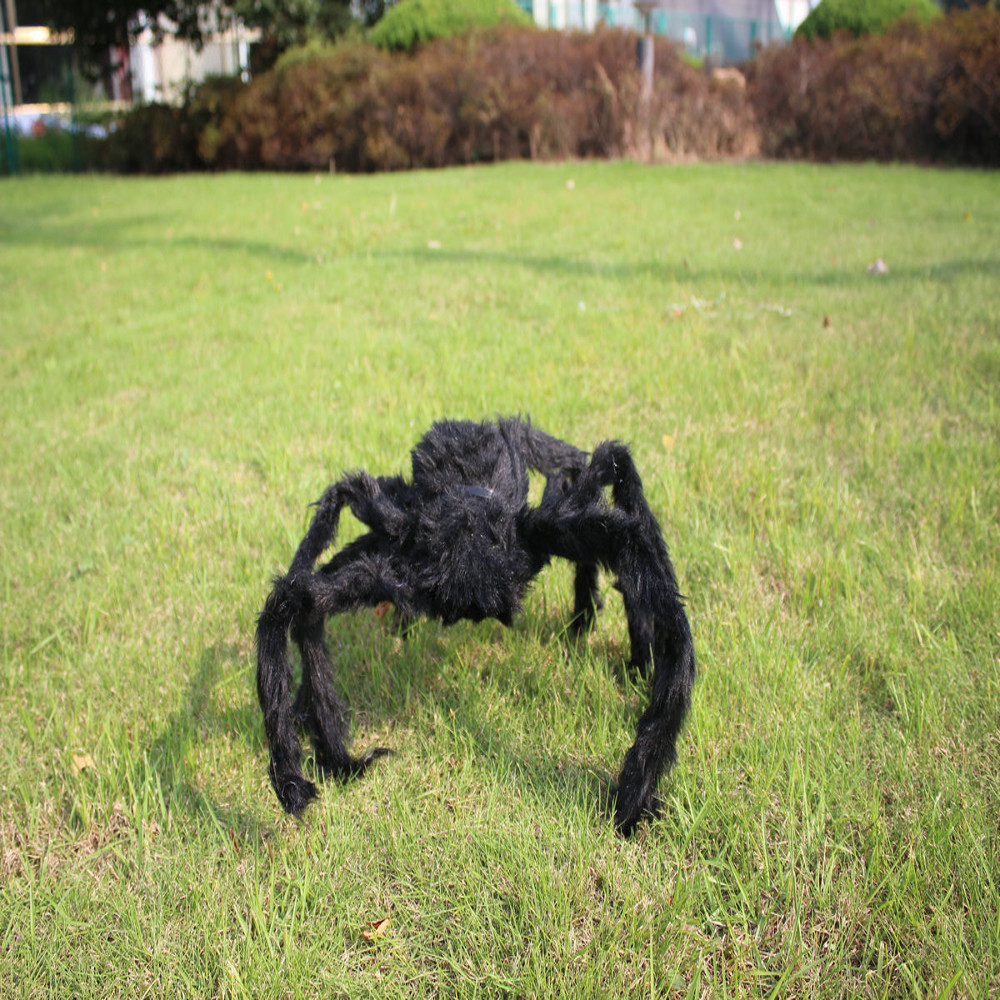 home wider hot selling black plush spider halloween decoration haunted house prop indoor outdoor jul28 drop
