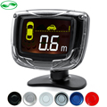 4 Sensors 22mm Buzzer Car LCD Parking Sensor Monitor Kit Display Auto Reverse Backup Radar Monitor System 12V 6 Colors Optional