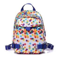 2019 повседневное нейлоновый рюкзак звездный узор водостойкие школьные сумки для девочек-подростков Высокое качество модные женские