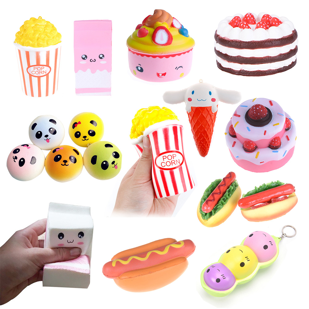 Provided French Baguettes Kawaii Squishy Rising Jumbo Rainbow Icecream Squeeze Pillow Loaf Cake Bread Toy Charms Ninja Panda/bear/fox High Standard In Quality And Hygiene Cellphones & Telecommunications