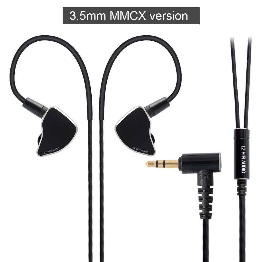 سماعات أذن صغيرة LZ A6 ديناميكية + 1 محرك سيراميك كهرضغطية وحدتين هيكلين IEM قابلة للاستبدال مزودة بفوهة MMCX قابلة للفصل