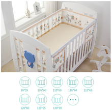 Baby Bed Bumper Bumpers in the Crib Protector Mesh Cot Protection Cushion Sets for Spring Summer