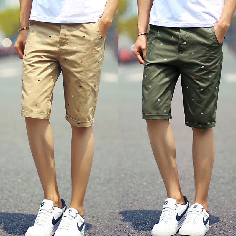 f030c6a5e4 US $9.99 |Mens Shorts New Fashion Brand Slim Fit Summer Cotton Casual  Printed Polo Shorts Homme High Quality Beach Boardshorts-in Casual Shorts  from ...