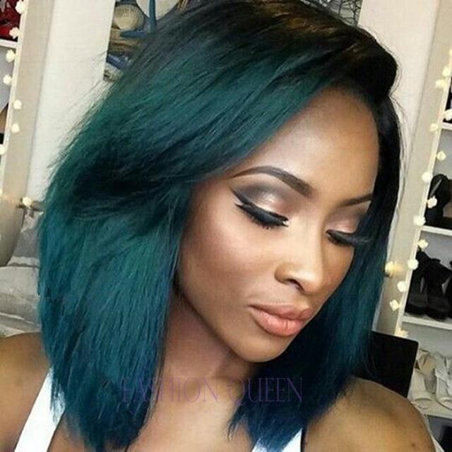 aliexpresscom buy short bob hair ombre turquoise green