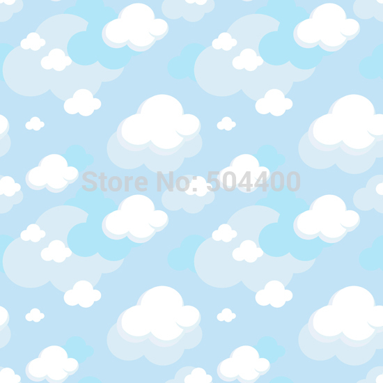 5X7ft Art fabric photo studio newborn backdrop photography background clouds pattern backdrop D-702 newborn photography background blue sky white clouds photo backdrop vinyl balloons scattered petals backgrounds for photo studio