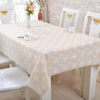 European Fashion Table Cloth Flower BronzingTable Cloths Hotel Oilproof Waterproof Tablecloth Wedding Anti Hot Tablecloths