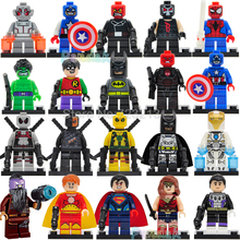 M Super Hero Single Sale Deathstroke Figure Batman Hyperion Cosmic Boy Taserface Marvel Building Blocks Model Bricks Toys