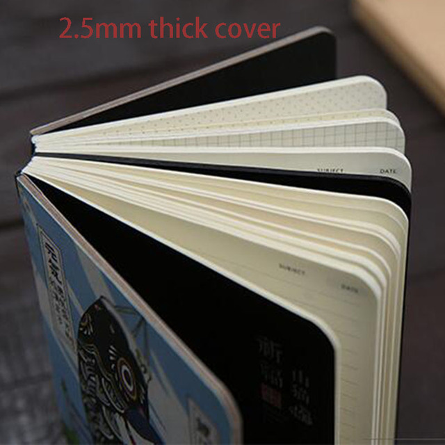 Creativo sveglio Giapponese Gatto Notebook Planner Agenda Diario Duro Della Copertura Carte di Pianificazione Mensile Annuale Ufficiale Notebook Giornaliero Memo 3