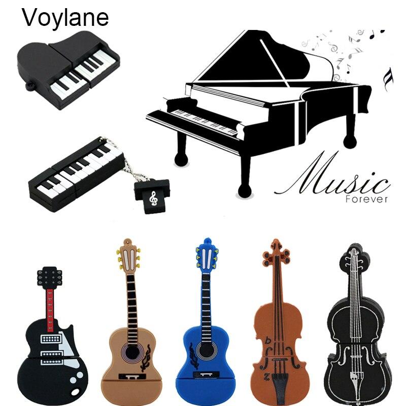 9 estilos Modelo USB flash drive violín Instrumentos Musicales/piano/guitarra Pe