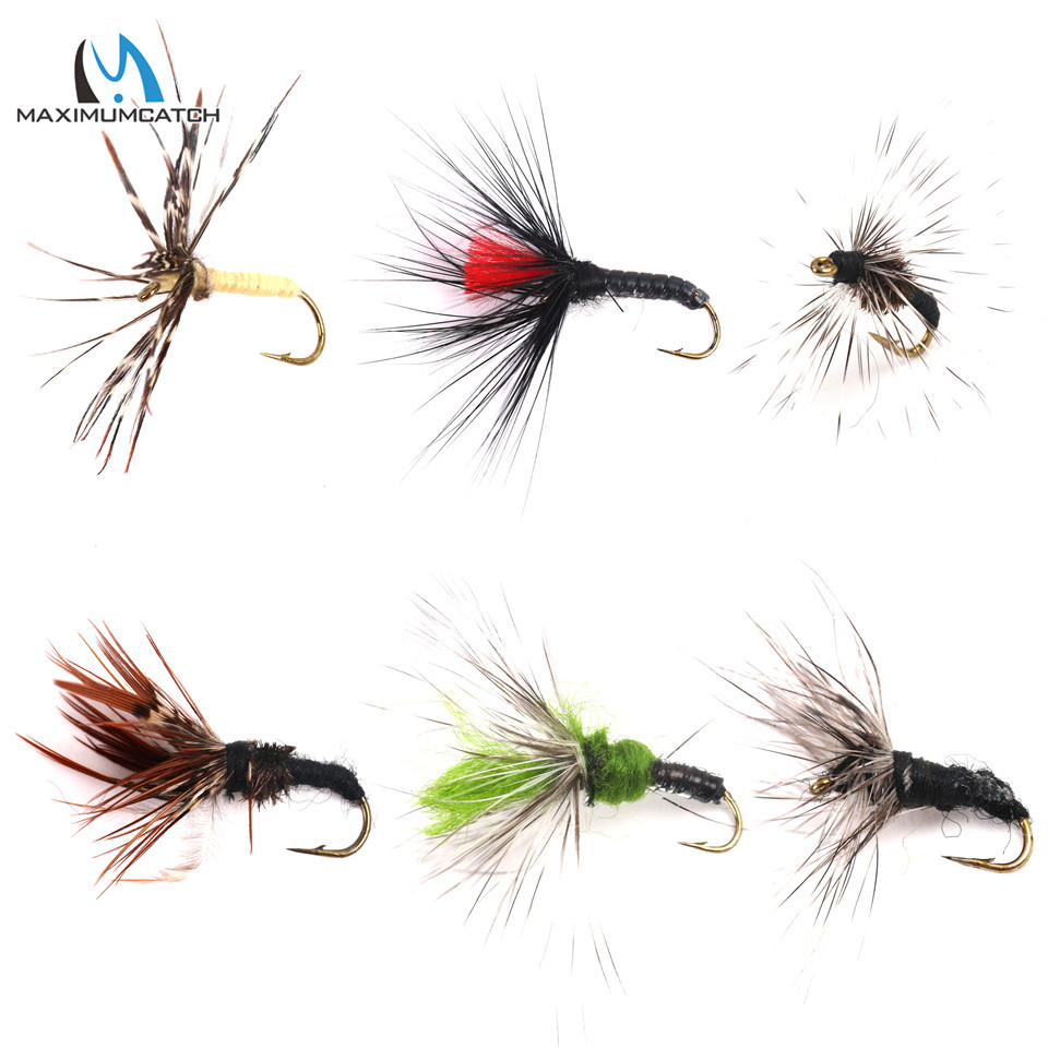 Maximumcatch 12pcs New Tenkara Flies #8/12/16 Fly Hooks Fly Fishing Hooks Combo Flies Assortment redfish seatrout fly assortment collection of 6 holly flies