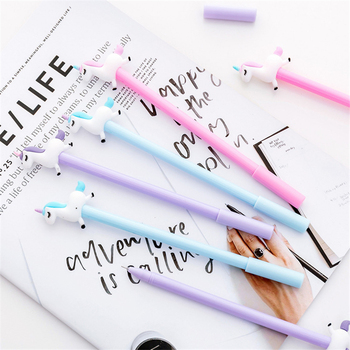 Creative Unicorn pens Gel Pen Cute Kawaii Signature Pen Escolar Papelaria For Office School Writing Supplies Stationery Gift image