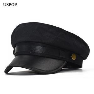 USPOP 2018 women newsboy caps winter wool hat female fc45e655d572