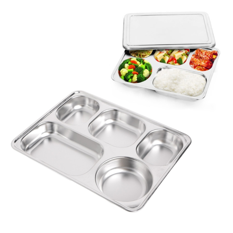 Stainless Steel Insulation Plate Seal Tray Bento Lunch Box