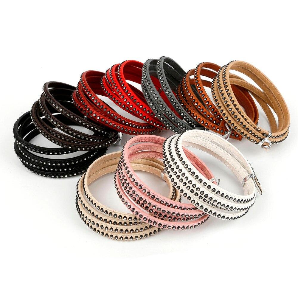 1 Meter 6mm Kristall Strass Flache Pu Lederband & Seil Für Diy Halsband Halskette Armband Modeschmuck Machen Zubehör 2019 Offiziell