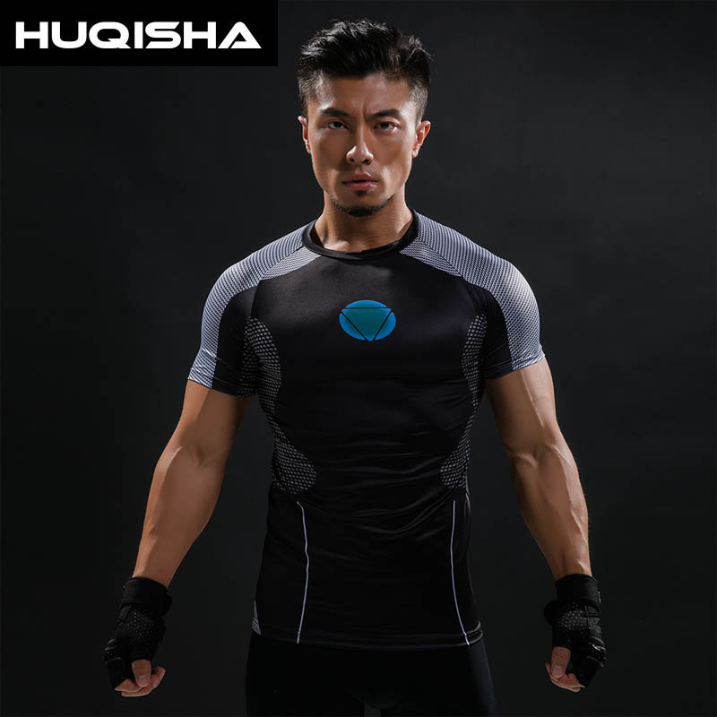 3D Printed T-shirts Men Iron Man Hottoys T Shirt Captain America Civil War Tee 2016 Avengers Fitness Male Crossfit Tops
