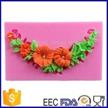 Торт силиконовые формы, торт испечь инструмент формы цветка для украшения торта