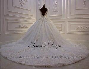 Image 4 - アマンダデザインハイエンドカスタマイズされたローカットディープ v セクシーな背中のドレス