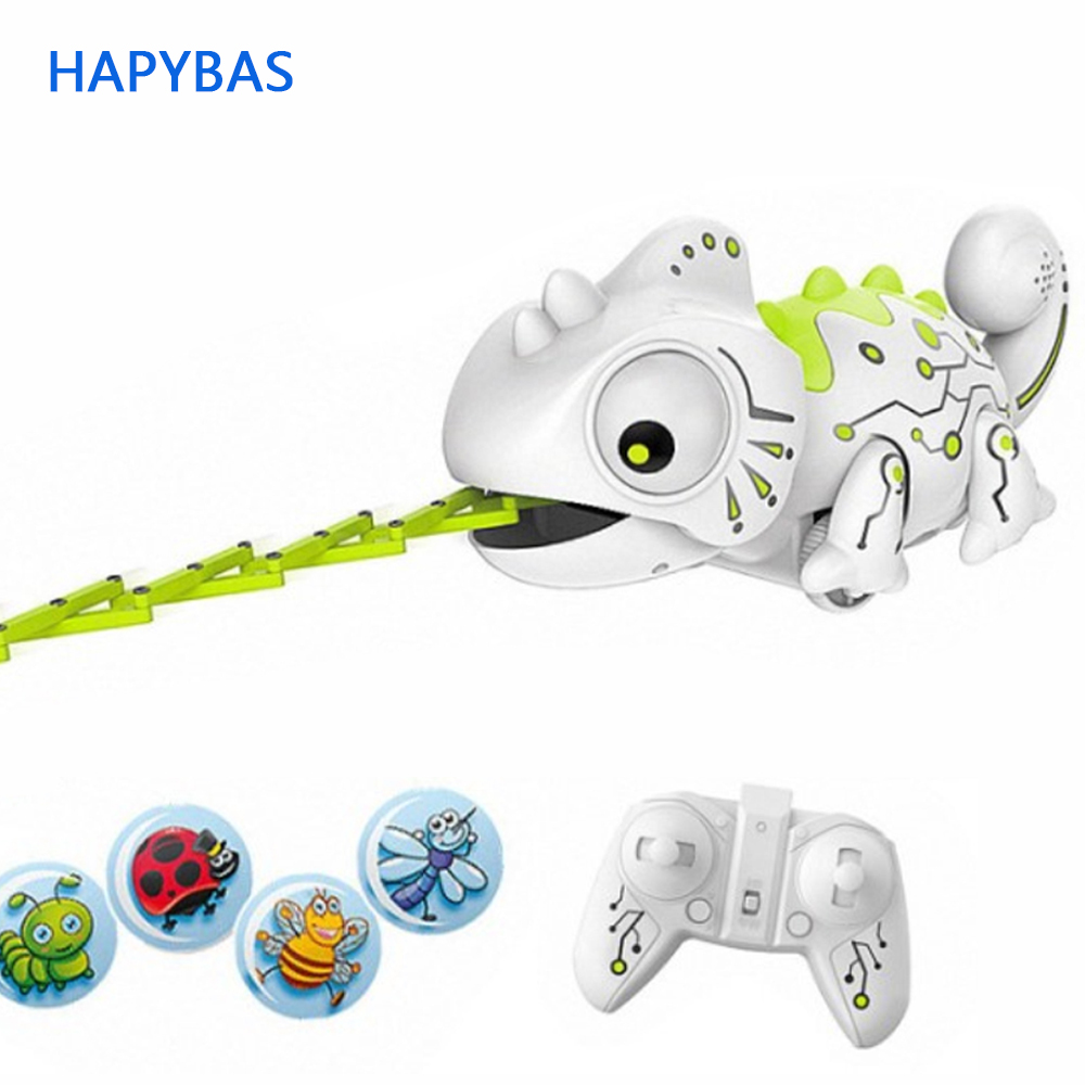Smart RC Chameleon 2.4GHz Pet Intelligent Toy Robot For Children Kids Funny Birthday Gift Toy RC Animals