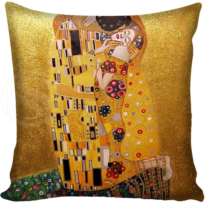 G0309 New Gold Painter Artist Gustav Klimt Federa morbida federa & F