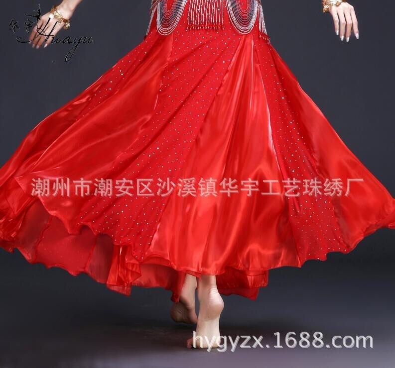 Women Belly Dance Clothes Lady Belly Dance Practice Clothing Modal Long Skirt  Girls Ballroom Dance Suit Dress